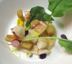Maine lobster with Sapelo Farms pears, chestnuts, and parsnip dumplings - February 29 (Photo by Lisa Ozag)