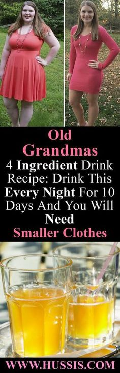 Old Grandmas 4 Ingredient Drink Recipe: Drink This Every Night For 10 Days And You Will Need Smaller Clothes Diet Recipes, Banting Recipes, Cleanse Recipes, Juice Recipes, Weight Loss Drinks, Healthy Weight Loss, Weight Loss Tips, Weight Loss Motivation, Fitness Motivation