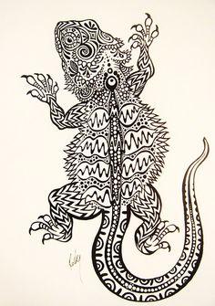 bearded dragon tattoo - Google Search