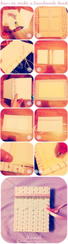 how to make a handmade book  http://spider-sugar.blogspot.com/2012/11/lolita-blog-carnival-5-diy-gift-ideas.html