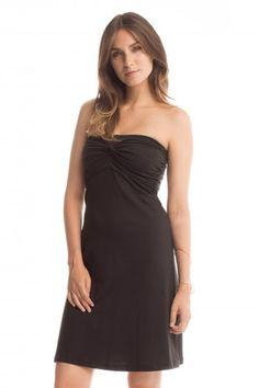 Strapless Twist Dress in Black
