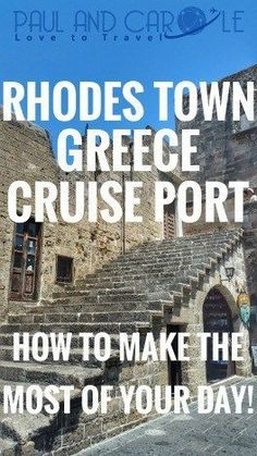 On our recent cruise we visited the island of Rhodes Greece. If you are planning a visit we hope this post is useful and will help you make the most of your day.
