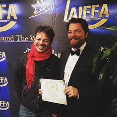 - Me and director Stefano Milla at LAIFFA . . . ... https://plus.google.com/113191551971303748327/posts/22ZSbAcQSKr