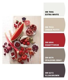 Dining room with red accent wall? Paint colors from Chip It! by Sherwin-Williams (Spalding gray) by katheryn