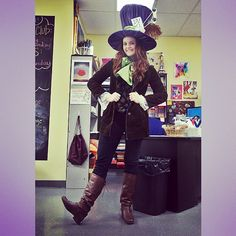 Halloween is my fav :) Loved this costume, mostly because I made most of it and thrifted the rest :) #diy #halloween #madhatter #teachercostume #imadethat