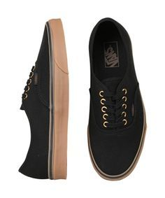 1c73b2411227 AUTHENTIC (GUMSOLE) BLACK RUBBER Exclusive to General Pants! Black Vans  with the