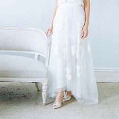 Our pretty Leila shoes with pretty bridal separates from @alexandragrecco #bridalfashion #pretty #understated #chilled #relaxed #bohobride #delicate #itsallinthedetail #inspiration