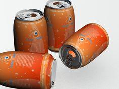 Lata de Refrigerante texturizada e renderizada em 3d max 2009 após a modelagem anterior