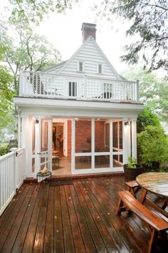 Exteriors - Blackdog Design/Build/Remodel 2nd story balcony over screened porch