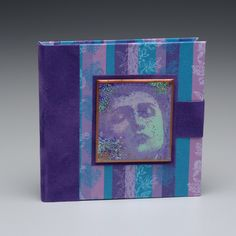 Note Tote in purple and teal