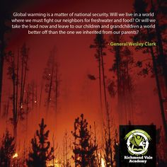 Global warming is a matter of national security. Will we live in a world where we must fight our neighbors #climatechange #world