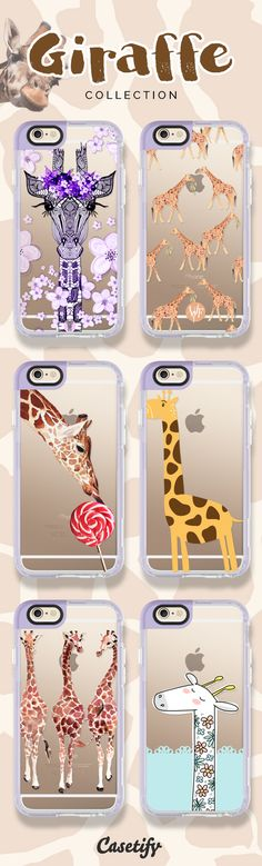 Stand tall! Shop these cases with cute giraffe designs here: https://www.casetify.com/search?keyword=giraffe | @casetify