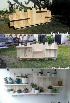 Here we are bringing out with the so lovely and pleasant designed creation of the wood pallet that has been in the form of wall shelf. It is all created out with the modern working that is much artistic looking. You can ideally make it locate on top of the wall perfectly.