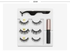 5 Magnet Eyelash Magnetic Liquid Eyeliner& Magnetic False Eyelashes & Tweezer Set Waterproof Long Lasting Eyelash Extension-in False Eyelashes from Beauty & Health on Aliexpress.com | Alibaba Group Eyelash Kit, Magnetic Lashes, Beauty Essentials, False Eyelashes, Eyelash Extensions, Beautiful Eyes, Eyeliner, Magnets, Lipstick