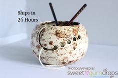 Ceramic Yarn Bowl | Ready to Ship | Yarn Bowl | Handmade Ceramic Gift for Knitters | @giftryapp