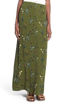 Hinge Floral Print Maxi Skirt available at #Nordstrom