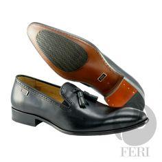 Global Wealth Trade Corporation - FERI Designer Lines Leather Tassel, Cowhide Leather, Men's Shoes, Dress Shoes, Cow Hide, Tassel Loafers, Luxury Shoes, Colour Black, Shoe Collection
