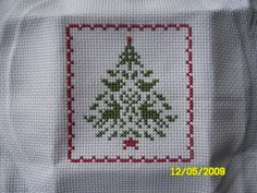 Another Christmas tree ornament... I am going to sew this one into a pillow ornament as well.  Another cute design by Judy Whitman @ JBW designs.