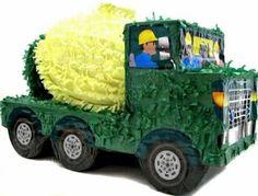 Green Construction Truck Pinata