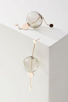 la légèreté Ꮎ bijou jewel glassy long drop earrings Modern Jewelry, Silver Jewelry, Fine Jewelry, Silver Ring, Stylish Jewelry, Gold Jewellery, 925 Silver, Sterling Silver, Gold Diamond Earrings