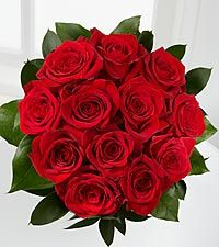 The Sharing the Love Red Rose Bouquet - 12 Stems of 16-inch Roses, no vase