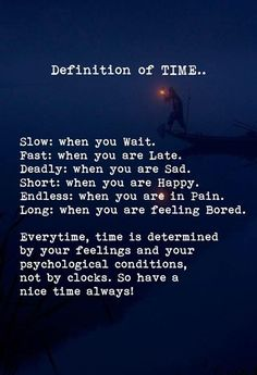 Defination of time..