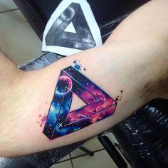 Tri GAlax Geo AB #tattoo #tatuaje #galaxy #space #star #planet #universo #cielo…