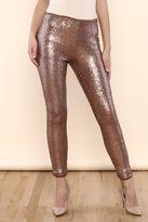 SHE Boutique Bronze Sequin Leggings