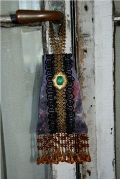 Downton Abbey Sachet with cinnamon potpourri and vintage embellishments