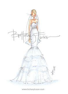 Brittany Fuson: Custom Bridal Illustration ww.brittanyfuson.com