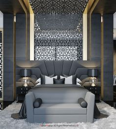 Immortalize on Behance - Houses interior designs Room Design, Luxury Bedroom Design, Home Bedroom, Luxurious Bedrooms, House Interior, Bed Headboard Design, Home Interior Design, Interior Design, Luxury Interior
