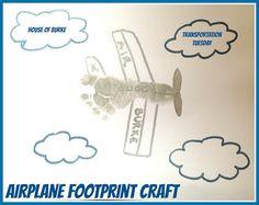 Transportation Tuesday - Airplane Week - Airplane Footprint Craft - House of Burke