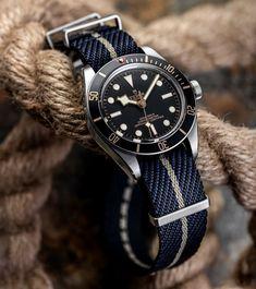 Dream Watches, Sport Watches, Luxury Watches, Rolex Watches, Watches For Men, Older Mens Fashion, Best Looking Watches, Rolex Tudor, Black Leather Watch