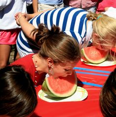 Watermelon Eating Contest-- fun at a summer cookout or 4th of July party