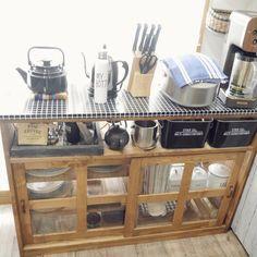 Kitchen Cart, Diy Kitchen, Kitchen Interior, Room Interior, Kitchen Decor, Interior Design, Hobby Lobby, Mason Jars, Diy And Crafts Sewing