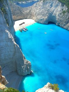I think this is Navagio Beach, Zakynthos/Zante, Greece