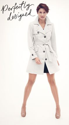 Every woman's work wardrobe should have a trench coat.