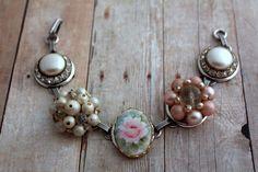@belmonili  https://www.etsy.com/listing/215019589/blush-rose-bracelet-pearl-pink-granny