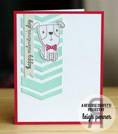 Reverse Confetti   January 8th Release   Puppy Love stamps and Confetti Cuts dies; Pretty Panels: Big Chevron Confetti Cuts