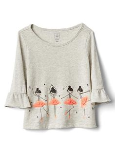 Shop for Tulle embellished bell-sleeve tee by Gap at ShopStyle. Baby Girl Dresses, Baby Dress, T Shirt Painting, Frock Fashion, Kids Wear, Toddler Girl, Kids Outfits, Shirt Designs, Kids Fashion