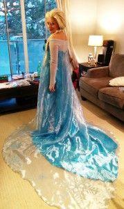 Elsa frozen adult costume tutorial