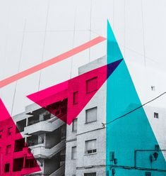 Architecture collage with triangular colour blocked details by kkgas - Design, Real estate - Stocksy United Architecture Posters, Architecture Collage, Architecture Graphics, Architecture Details, Collage Drawing, Color Collage, Colour Block, Color Blocking, A Level Photography