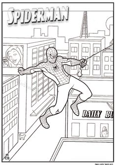 Spider Man Coloring Pages And Sheets Find Your Favorite Cartoon Picures In The Library