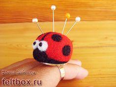 Pincushion Ladybug Needle felting Tutorial