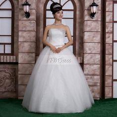 Attractive Ball Gown Floor-length Strapless Wedding Dress