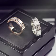 Rotatable Love You Every Day Rings For Couples In Titanium, Cheap Promise Rings For Him and Her. Cheap Promise Rings, Promise Rings For Couples, Rings For Men, Matching Couple Rings, Matching Couples, Fashion Couple, Titanium Rings, Love Ring, Fashion Rings