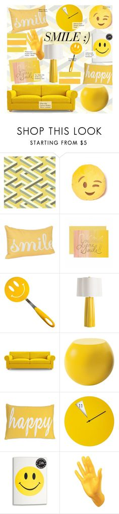 """""""Smile ;)"""" by kusja ❤ liked on Polyvore featuring interior, interiors, interior design, home, home decor, interior decorating, Cole & Son, Tovolo, Arteriors and Joybird Furniture"""