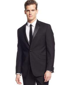 Kenneth Cole Reaction Slim-Fit Black Tuxedo - Suits & Suit Separates - Men - Macy's