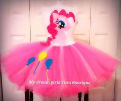 Pinkie Pie, My little Pony tutu dress, MLP birthday dress, Pinkie Pie birthday tutu, Pinkie Pie birthday dress