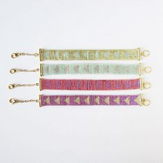 Handmade bead weaved bracelet, from sewasong etsy shop